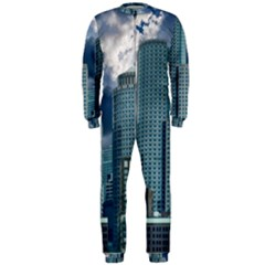 Tower Blocks Skyscraper City Modern Onepiece Jumpsuit (men)