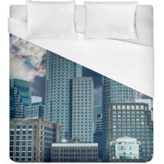 Tower Blocks Skyscraper City Modern Duvet Cover (king Size) by Celenk