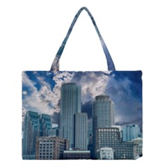 Tower Blocks Skyscraper City Modern Medium Tote Bag by Celenk