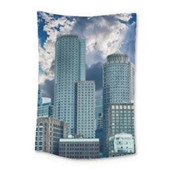 Tower Blocks Skyscraper City Modern Small Tapestry