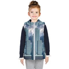 Tower Blocks Skyscraper City Modern Kid s Puffer Vest by Celenk
