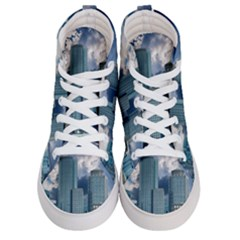 Tower Blocks Skyscraper City Modern Men s Hi Top Skate Sneakers