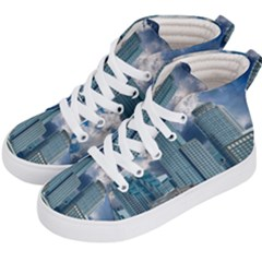 Tower Blocks Skyscraper City Modern Kid s Hi Top Skate Sneakers by Celenk
