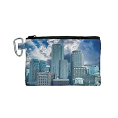 Tower Blocks Skyscraper City Modern Canvas Cosmetic Bag (small)
