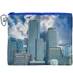 Tower Blocks Skyscraper City Modern Canvas Cosmetic Bag (xxxl) by Celenk