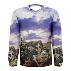 Mountain Snow Landscape Winter Men s Long Sleeve Tee