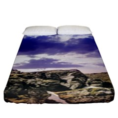 Mountain Snow Landscape Winter Fitted Sheet (king Size)