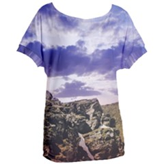 Mountain Snow Landscape Winter Women s Oversized Tee