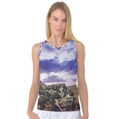 Mountain Snow Landscape Winter Women s Basketball Tank Top