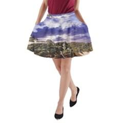 Mountain Snow Landscape Winter A Line Pocket Skirt