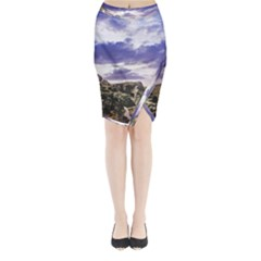 Mountain Snow Landscape Winter Midi Wrap Pencil Skirt