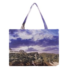 Mountain Snow Landscape Winter Medium Tote Bag