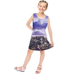 Mountain Snow Landscape Winter Kids  Tunic Dress