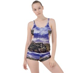 Mountain Snow Landscape Winter Boyleg Tankini Set