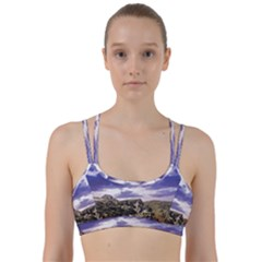 Mountain Snow Landscape Winter Line Them Up Sports Bra