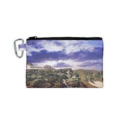Mountain Snow Landscape Winter Canvas Cosmetic Bag (small)