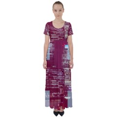 London England City High Waist Short Sleeve Maxi Dress