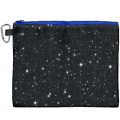 Black Background Texture Stars Canvas Cosmetic Bag (xxxl) by Celenk
