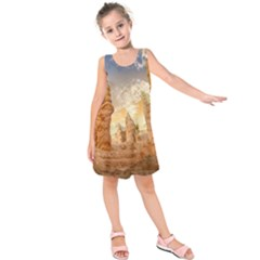 Canyon Desert Landscape Scenic Kids  Sleeveless Dress by Celenk