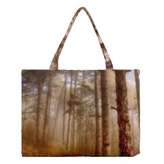 Forest Trees Wood Branc Medium Tote Bag by Celenk