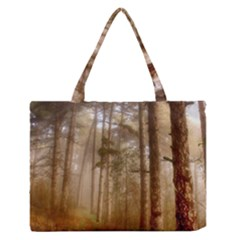 Forest Trees Wood Branc Zipper Medium Tote Bag by Celenk