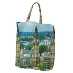 London England City Landmark Giant Grocery Zipper Tote