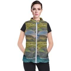 Coastline Waterfall Landscape Women s Puffer Vest