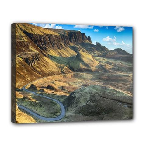 Nature Landscape Mountains Outdoor Canvas 14  X 11  by Celenk