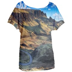 Nature Landscape Mountains Outdoor Women s Oversized Tee
