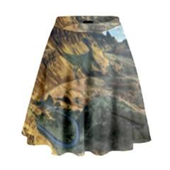 Nature Landscape Mountains Outdoor High Waist Skirt