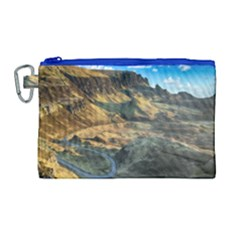 Nature Landscape Mountains Outdoor Canvas Cosmetic Bag (large)
