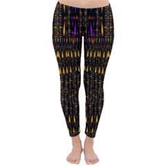 Hot As Candles And Fireworks In Warm Flames Classic Winter Leggings by pepitasart