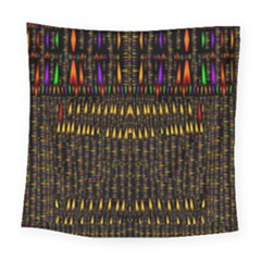 Hot As Candles And Fireworks In Warm Flames Square Tapestry (large) by pepitasart