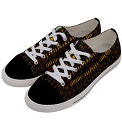 Hot As Candles And Fireworks In Warm Flames Women s Low Top Canvas Sneakers by pepitasart