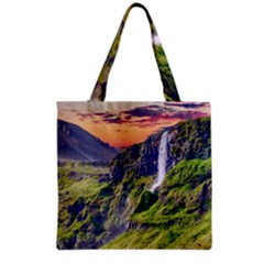 Waterfall Landscape Nature Scenic Grocery Tote Bag by Celenk