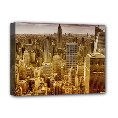 New York Empire State Building Deluxe Canvas 16  X 12   by Celenk