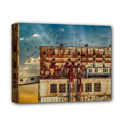 Ruin Abandoned Building Urban Deluxe Canvas 14  X 11  by Celenk