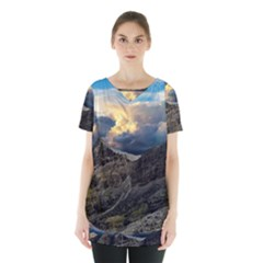 Landscape Clouds Scenic Scenery Skirt Hem Sports Top