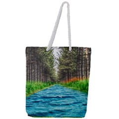 River Forest Landscape Nature Full Print Rope Handle Tote (large)