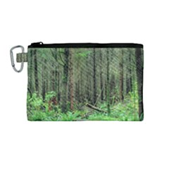 Forest Woods Nature Landscape Tree Canvas Cosmetic Bag (medium) by Celenk