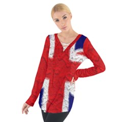 Union Jack Flag National Country Tie Up Tee