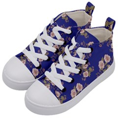 Ndigo Bedding Floral Kid s Mid Top Canvas Sneakers by Celenk