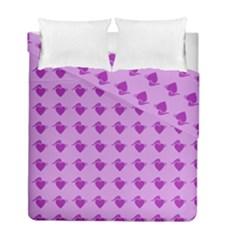 Punk Heart Violet Duvet Cover Double Side (full/ Double Size) by snowwhitegirl