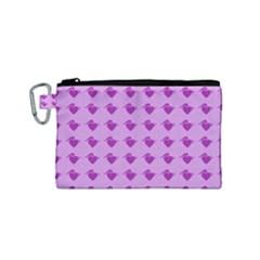 Punk Heart Violet Canvas Cosmetic Bag (small) by snowwhitegirl