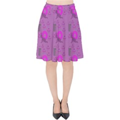 Punk Baby Violet Velvet High Waist Skirt by snowwhitegirl