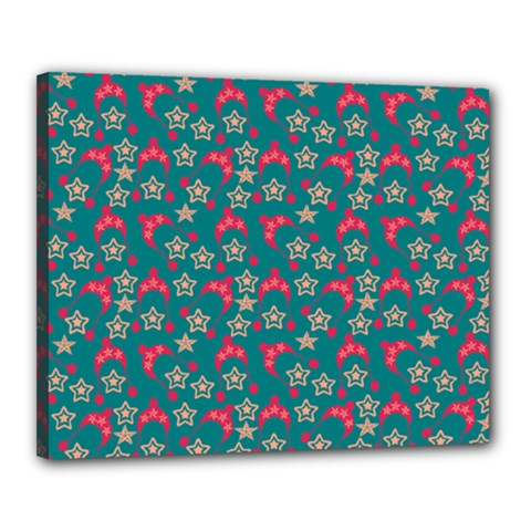 Teal Hats Canvas 20  X 16  by snowwhitegirl