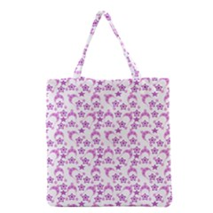 Violet Winter Hats Grocery Tote Bag by snowwhitegirl