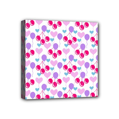 Pastel Cherries Mini Canvas 4  X 4  by snowwhitegirl