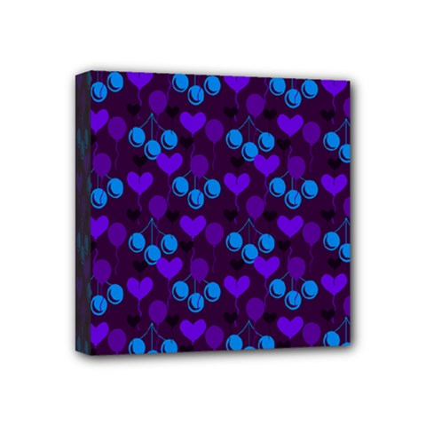 Night Cherries Mini Canvas 4  X 4  by snowwhitegirl