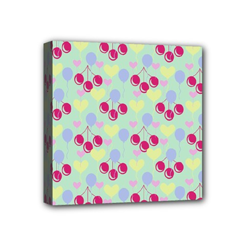 Birthday Cherries Mini Canvas 4  X 4  by snowwhitegirl
